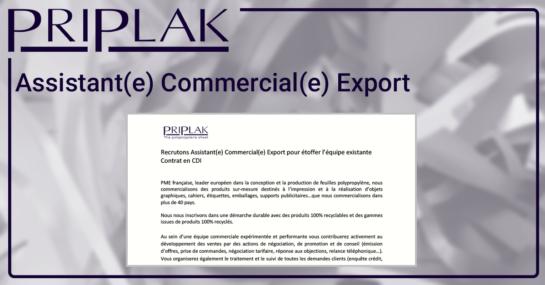 LinkedIn 2021 - Assistant(e) Commercial(e) Export