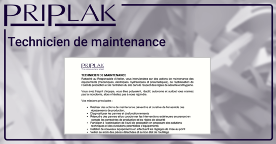 LinkedIn 2021 - Technicien de maintenance